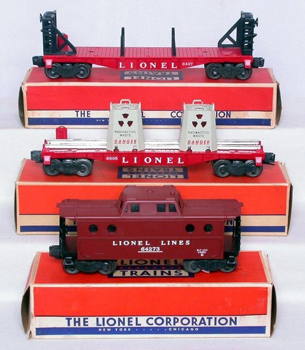 427: Mint Lionel 6427, 6467 and a 6805 in boxes
