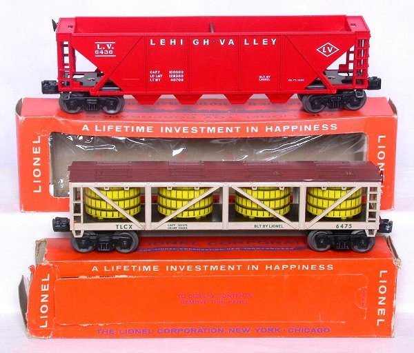 432: Mint Lionel 6436 LV and 6475 vat  in boxes