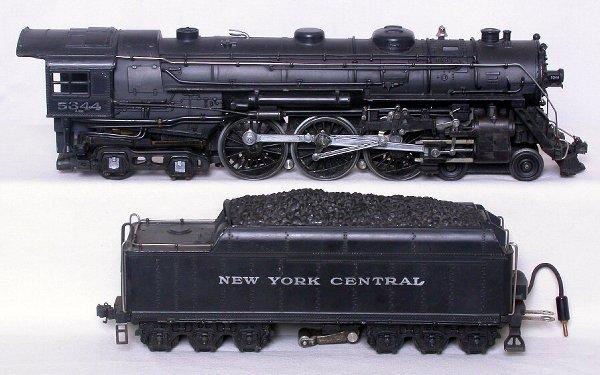 434: Lionel prewar 700E scale Hudson 5344 and board