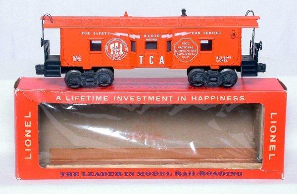 439: Lionel 6517-1966 TCA bay window caboose, OB