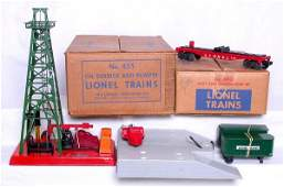 468 Lionel 460 piggyback set and 455 oil in boxes