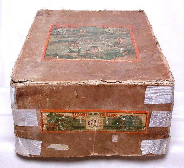 665: Lionel prewar 400E work train set box only 358E
