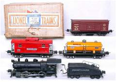 736: Lionel prewar 243B boxed set with 228 switcher