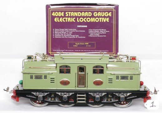 1: MTH MT-1022 Lionel 408E apple green in OB
