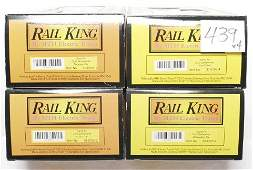 439: Four MTH Rail King Santa Fe pass. cars in OB