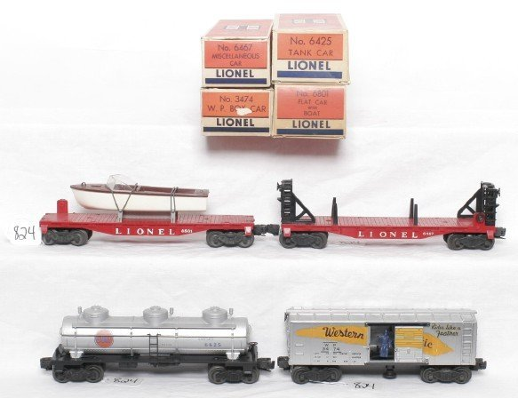 824: Lionel 6801, 6467, 6425 and 3474 in boxes