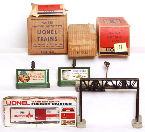 14: Lionel accessories and empty boxes, 2056, 70, 394