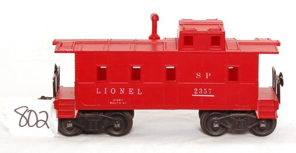 802: Rare Lionel 2357 red with red stack caboose