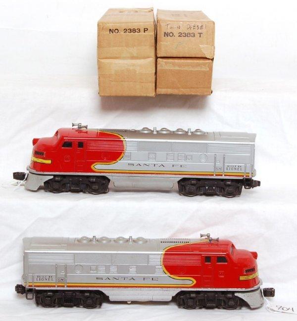 804: Lionel 2383 Santa Fe F3 AA set, OB