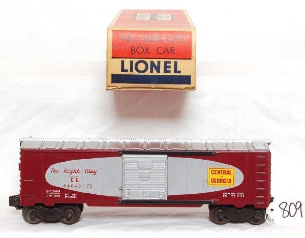809: Lionel 6464-375 Central of Georgia boxcar, OB
