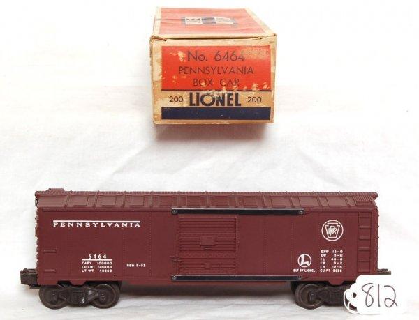812: Lionel 6464-200 Pennsylvania boxcar, OB