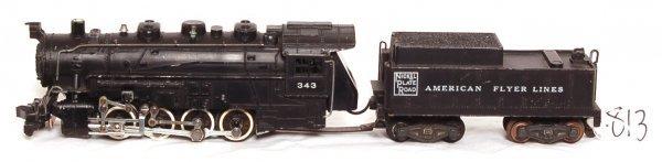 813: American Flyer prewar 343 steam switcher
