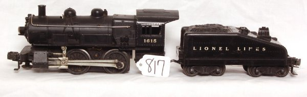 817: Lionel 1615 0-4-0 switcher with 1615T tender