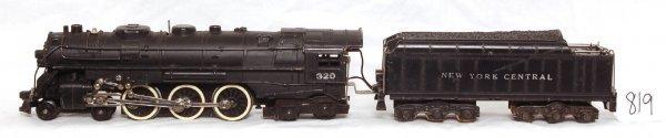 819: American Flyer 320 steam Hudson, tender