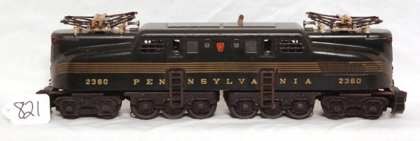 821: Nice Lionel 2360 green GG1, strong stripes
