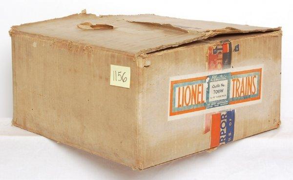 1156: Tough Lionel prewar 709W 700E Rail Chief set box
