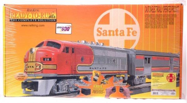2000: Rail King 30-4099-1 Santa Fe Pass Set MINT Boxed