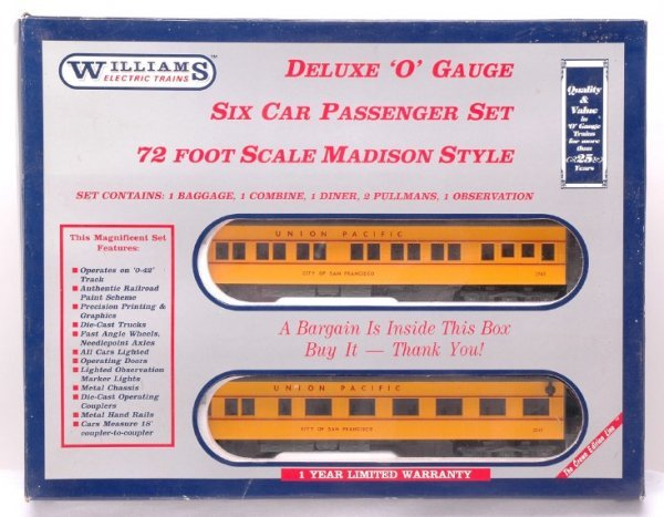 2002: Williams SM235 UP Madison Six Car Set LN Boxed