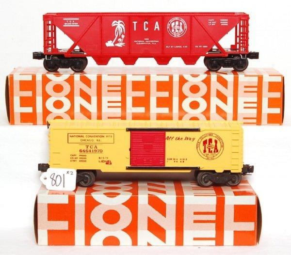 801: Mint TCA Lionel 6464-1970, 6436-1969, OB