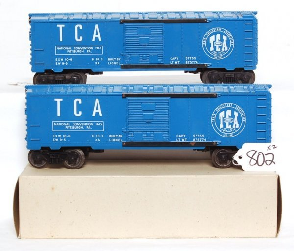 802: Tough Lionel 6464-1965X and 6464-1965, OB