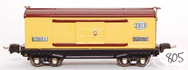 805: Lionel prewar 2814 boxcar, high grade original