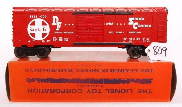 809: Unrun Lionel 6464-700 Santa Fe boxcar, OB