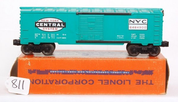 811: Nice Lionel 6464-900 New York Central boxcar, OB