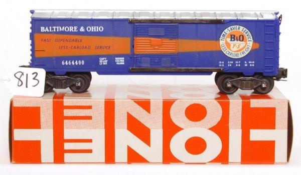 813: Lionel 6464-400 Baltimore and Ohio boxcar, OB