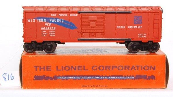 816: Unrun Lionel 6464-250 WP boxcar, OB