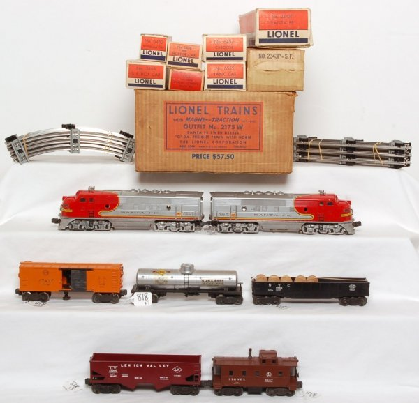 818: Lionel Santa Fe F3 2343 boxed set 2175