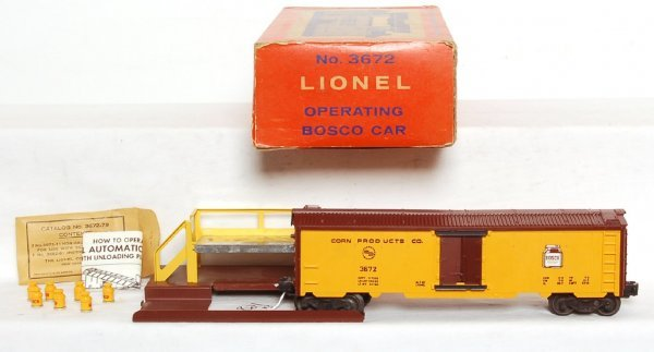 821: Lionel 3672 Bosco corn products operating reefer,