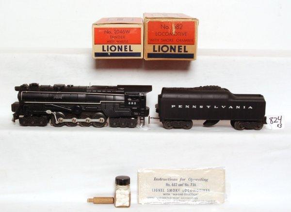 824: Nice Lionel 682 steam turbine, 2046-50, OB