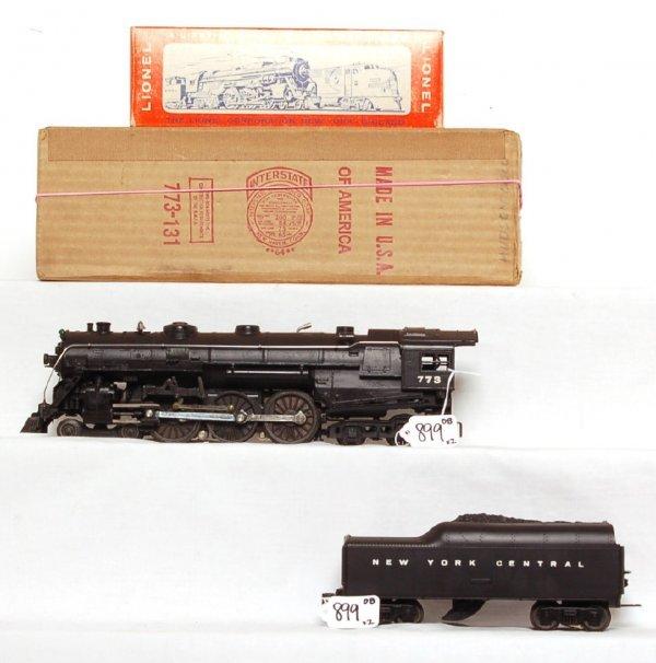 899: Nice Lionel 773 Hudson, 773W tender, OB