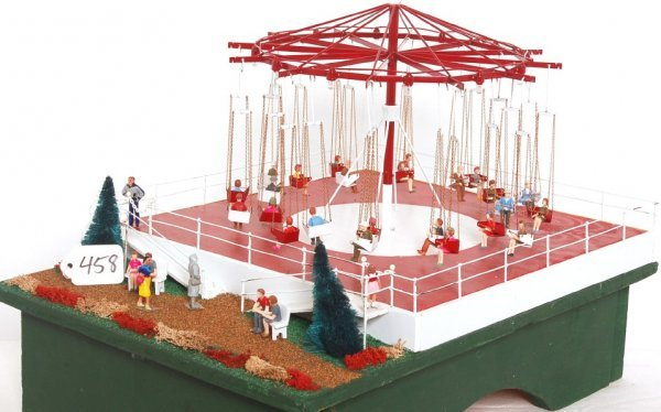 458: Handcrafted animated and lighted Swing ride
