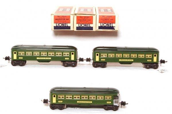 801: Lionel prewar 2640, 2640 and 2641, OB