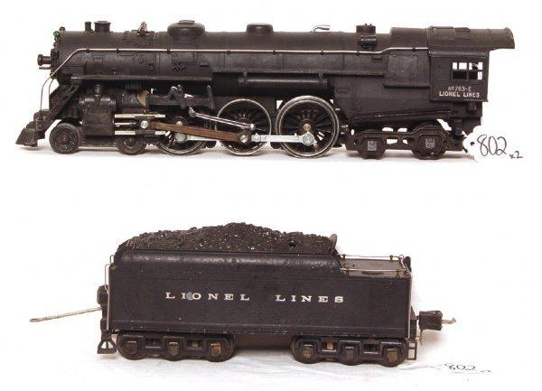 802: Lionel prewar 763E steam Hudson and tender