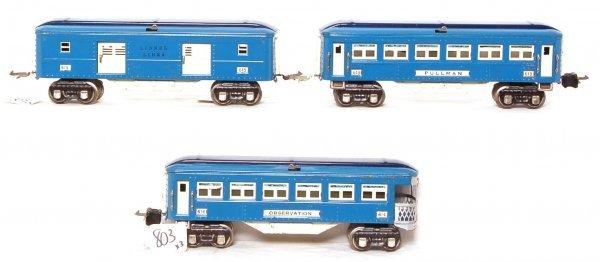 803: Lionel prewar Blue Comet 613, 614 and 615