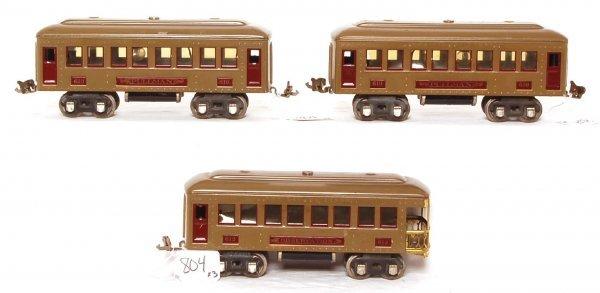 804: Lionel prewar 610, 610 and 612 passenger cars