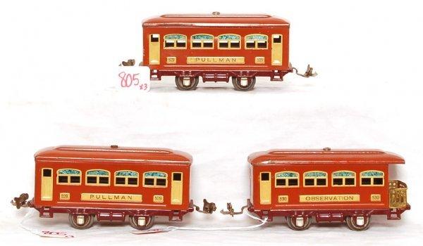 805: Lionel prewar 529, 529 and 530 passenger