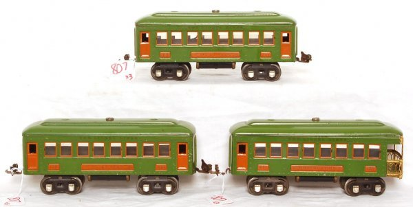 807: Lionel 610, 610 and 612 in green