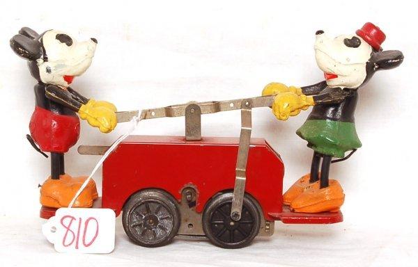 810: Lionel prewar 1100 Mickey Mouse and Minnie