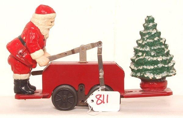 811: Lionel prewar 1105 Santa Claus Hand Car