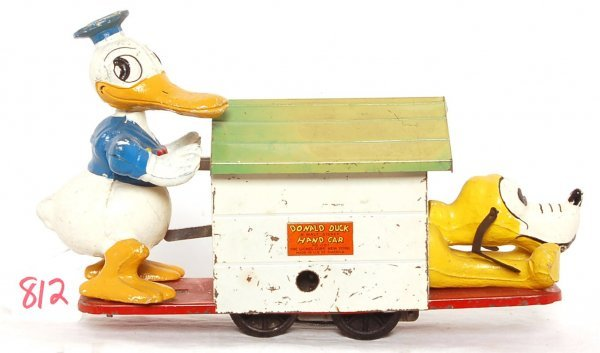 812: Lionel prewar 1107 Donald Duck hand car