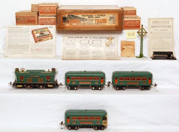 814: Lionel prewar 296 boxed set 253, 607, 607, 608