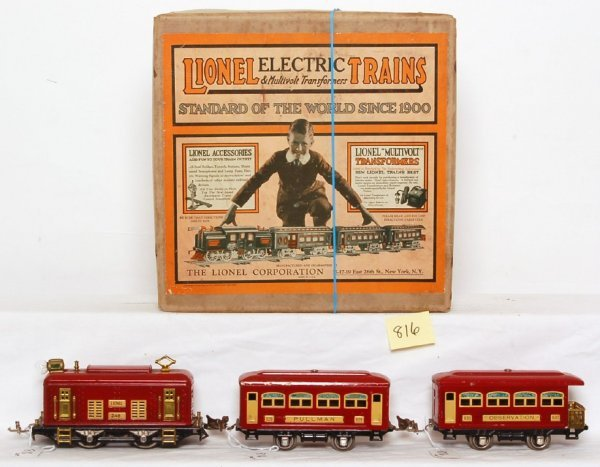 816: Lionel prewar 292 boxed set, 248, 629, 630