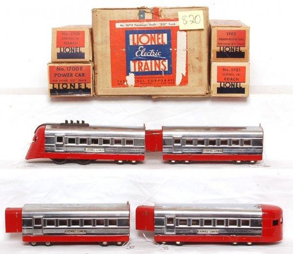 820: Lionel 1071E boxed set, 1700E, 1701, 1701, 1702