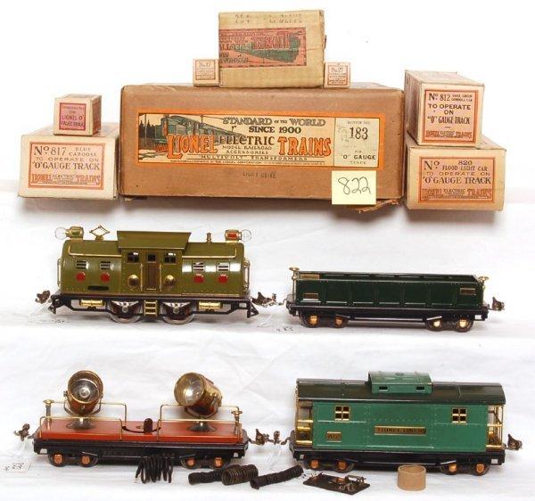 822: Lionel 183 boxed set, 254, 812, 820, 817
