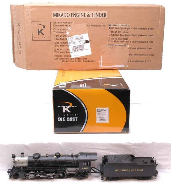 2015: K-Line K3610-4529CC B and O Mikado LN Boxed
