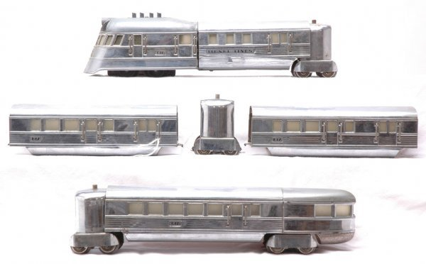 2024: Lionel 616E 617 618 Flying Yankee Passenger Set