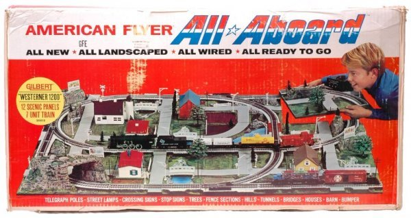 2356: AF 20813 All Aboard Westerner 1200 Set MINT Boxed